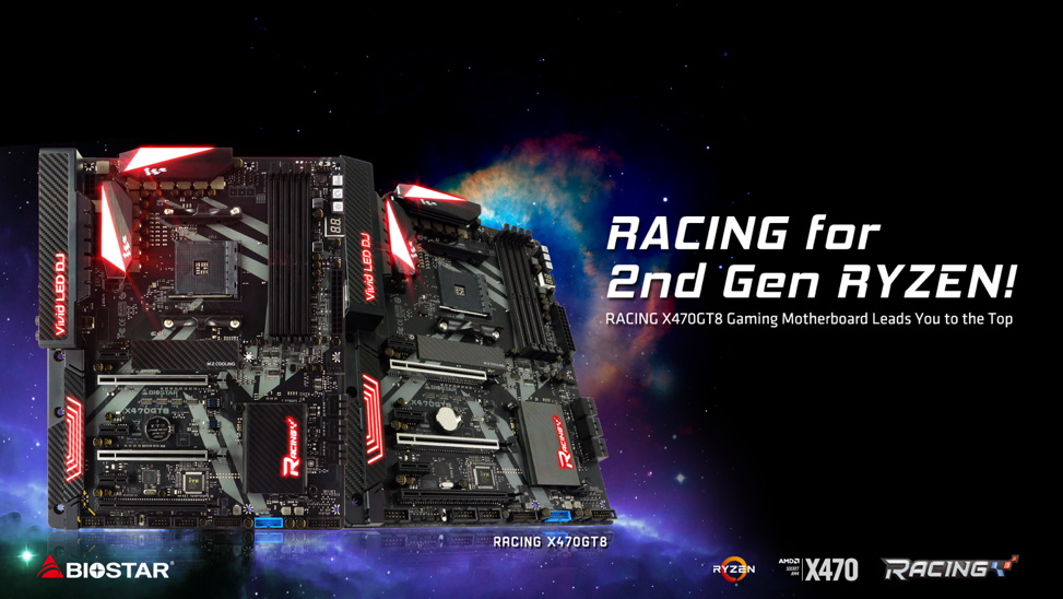 BIOSTAR Presents Gaming Enthusiast RACING X470GT8